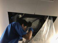業務用エアコンクリーニング洗浄風景